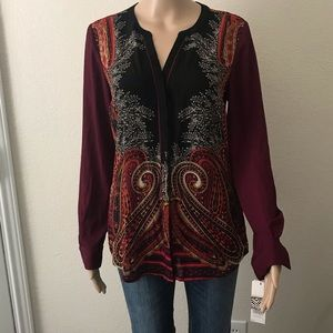 NEW WITH TAGS Dana Buchman Button Up Blouse